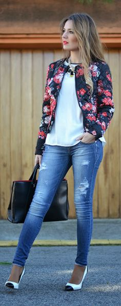 """  QUILTED PRINTED JACKET  Melena """