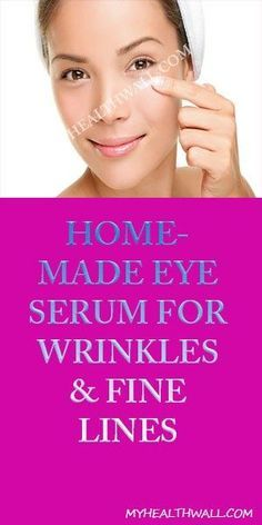 HOMEMADE EYE SERUM FOR WRINKLES & FINE LINES If you've ever purchased eye creams or serums, stop now! Making your own eye serum is SO easy, doesn't require a lot of ingredients, and most times works better than any store bought product. Homemade Eye Cream, Face Scrub Homemade, Homemade Skin Care, Home Remedies For Wrinkles, Face Cream For Wrinkles, Natural Health Tips, Natural Skin, Natural Beauty, Eye Wrinkle