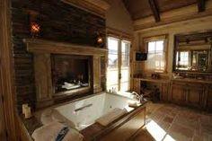 fireplace in bathroom! i love it!