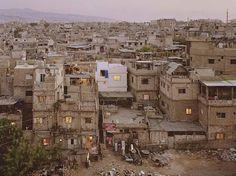 scheiinwelt:  Photo Simon Norfolk Palestinian refugee camp Bourj el-Barajneh - Lebanon.   favela of dreams, town Beirut Lebanon