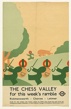 The Chess Valley for this week's ramble - Richard Beck, 1933