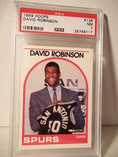 1989 Hoops David Robinson Rookie PSA NM 7 Basketball Card #138 NBA Collectible…