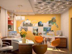 Imagen relacionada Agency Office, Future Office, Travel Agency, Office Interiors, Designs To Draw, Corner Desk, House Design, Interior Design, Table