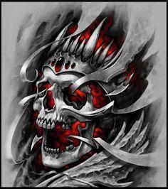 Schenkeltattoos - Skull Tattoo - Garden Planting - Home DIY Cheap - Blonde Hair Styles - DIY Jewelry Vintage Biomech Tattoo, Hanya Tattoo, Biomechanical Tattoo, Indian Skull Tattoos, Skull Sleeve Tattoos, Body Art Tattoos, Thigh Tattoos, Totenkopf Tattoo Mann, Totenkopf Tattoos