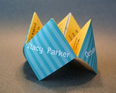 Retirement Party Favors | Birthday Invitation, Favor, Personalized, Party, Cootie Catcher, Kids ...