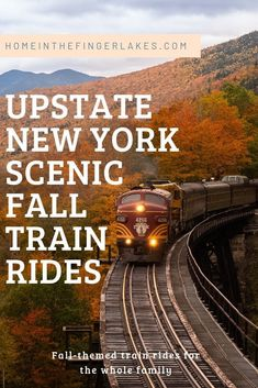 From the Mountains to the Finger Lakes region there is no better way to take in all the colors and sites than on a train tour. Train Tour, By Train, Places To Travel, Places To See, Day Trip To Nyc, Scenic Train Rides, Finger Lakes, Upstate New York, Train Travel