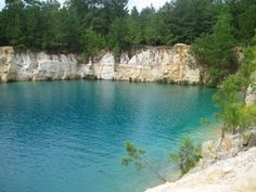 "Inspiration for my novel ""Promise"": limestone quarry swimming hole. Limestone Quarry, Florida Pool, Swimming Holes, Daffodils, Outdoor Spaces, Childhood Memories, Sunrise, Adventure, Landscape"