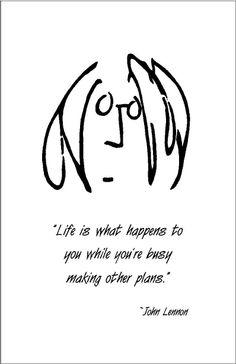 John Lennon quote Print. $12.00, via Etsy.