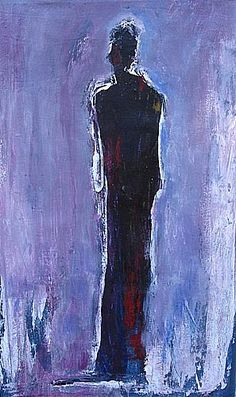 """Solitary Silhouette"", #painting, # Original Painting, #LargeAbstractArt, #WallDécor, #HomeDécor, #OfficeDécor, #FineArtPaintings, #FineArt, #ContemporaryArt. #OriginalArt, #UrbanArt, # SymbolicReflections, #FigurativePainting, #FigurativeArt, #WallArt, #Figure, #Reflections, #artofmarquesvickers, #marquesvickers"