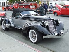 1935 Auburn Supercharged Boattail Speedster Replica Silver & Black