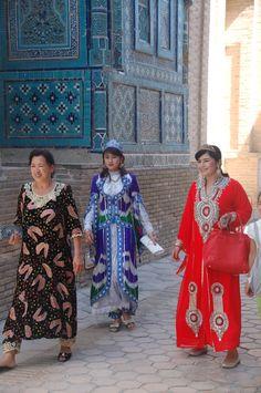 Karakalpakstan women in ShahIzinda Samarkand