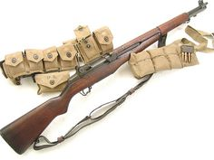 M1 Garand with Ammo bandoleer.