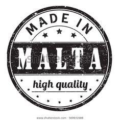 Ilustración de stock sobre Rubber Stamp Text Made Malta High 569931688
