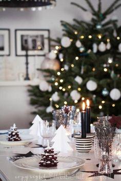 Wit en Zwart combineert goed met kerst
