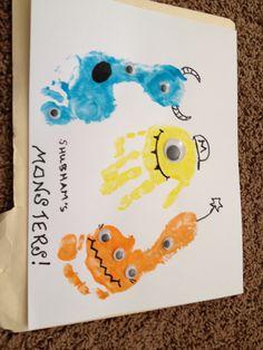Handprint footprint Monsters!