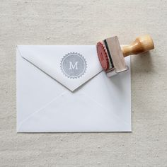 Initial Stamp via The Penny Paper Co.