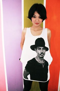 Johnny Depp Sexy Men White Tank Top T-Shirt Women Size S M. $15.99, via Etsy.