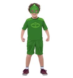 fantasia pjmasks Simples #fantasia #fantasiapjmasks Fantasia Pj Masks, Baby Party, Birthday, Carnaval Kids, Gabriel, Products, Red Jumpsuit, Red Gown Dress, Green Jumpsuits