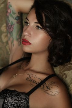 love chest/clavicle tattoos