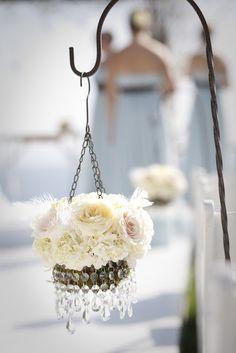 mini chandelier wedding aisle decor  ~  we ❤ this! moncheribridals.com #weddingceremonydecorations