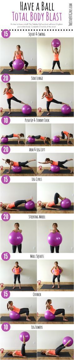 Total Body Stability Ball Workout #fitnesspal,
