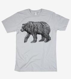 men's grizzly bear t-shirt