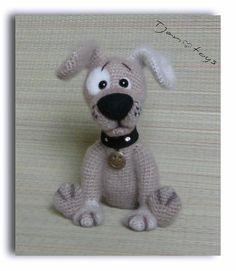 Cachorro OOAK poco perro peluche animales de ganchillo hecho a mano suave juguete decoración Amigurumi hecho a pedido