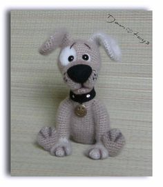 Puppy OOAK Little Dog Stuffed Animals Crochet Handmade by Tjan
