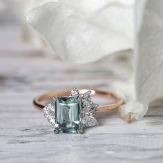 30 Emerald Cut Engagement Rings You Can't Resist #timelessengagementrings #elegantwedding #emeraldcutengagementrings