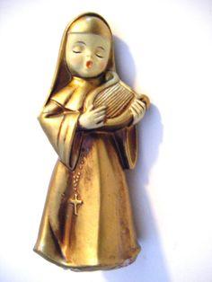 Vintage Precious Singing Porcelain Nun Figurine With by parkledge, $20.00