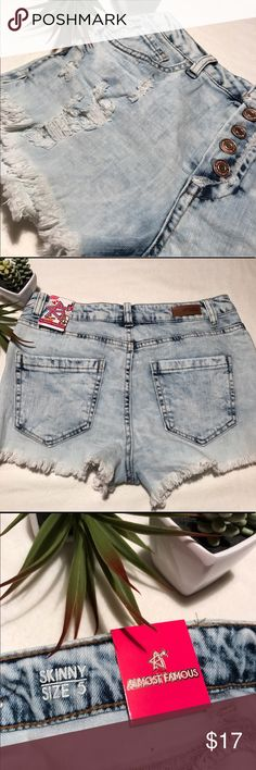 Almost Famous High waisted jean shorts High waisted jean shorts. Perfect for that summer outfit.                                                                      🎀10% off two items 🎀new  🎀free gift with every purchase.  ▪️All items are cleaned before shipment ▪️smoke and pet free household Almost Famous Shorts Jean Shorts