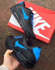 detailed look 4bec3 4fee9 Fluo bleu drippy nike air max 90 Air Max 90, Uomini Nike, Nike Scarpe