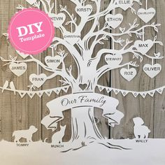 Trace Your Family Using the Free Family Tree Template Word Making a family tree can be more comfortable when you use the free family tree template word. Diy Family Tree Project, Family Tree Art, Free Family Tree, Family Tree Gifts, Crafts Beautiful, Beautiful Family, Paper Tree, Tree Designs, Diy Paper