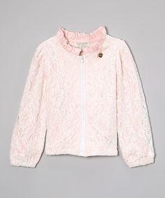 Pink Lace Jacket - Toddler & Girls