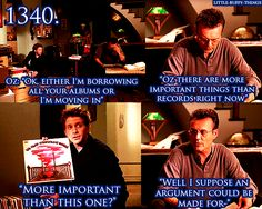 I just love that some of my favorite characters (Giles, Oz, Spike) have excellent music taste. :)