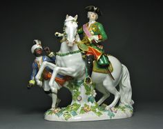 A Meissen Group of Czarina Elizabeth on Horseback