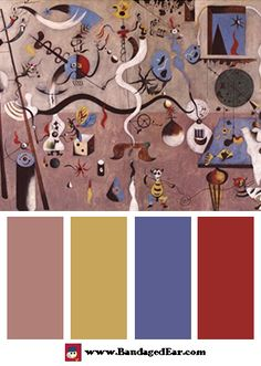 Color Palette: Carnival of Harlequin, Art Print by Joan Miro