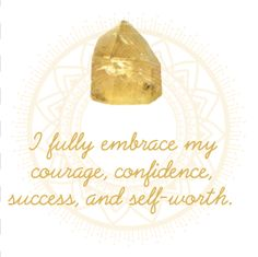 Citrine Affirmation in our Crystal Affirmations eBook