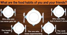 What are the food habits of you and your friends?