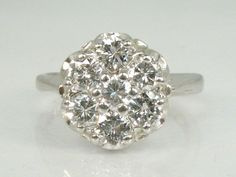 Vintage Diamond Engagement Ring - Cocktail Ring - 1.00 Carat Diamond Total Weight - Appraisal Included