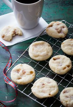 Sparkling Toffee Cookies - Jelly Toast.  I'm going to make these with the chocolate covered toffee bits.