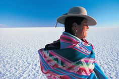 Bolivian woman. Photograph by Peter Adams