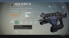 "Coiled with Warlock fieldwave, the NF-IV is portable hellfire. Nox Fury IV is a rare fusion rifle. Upgrades: Truesight IS: ""Flexible sight. Light, with g... #destiny"