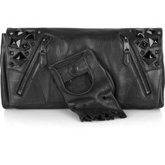 Black bag with crystals and glove-Alexander McQueen