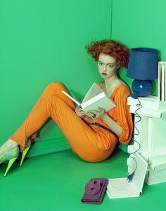 """Killing Time"" | Model: Ekaterina Detcheva, Photographer: Lucia Giacani, Vogue Italia, June 2011"