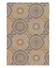 Another great find on #zulily! Gray & Gold Vero Rug by Loloi Rugs #zulilyfinds