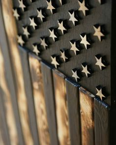 @rusticfirefighter -  Rustic Firefighter Black & White Wood Flag with rustic…