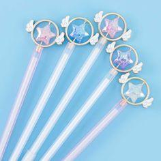 Magical Star Wand Pen Kawaii Pens, Kawaii Gifts, Korean Stationery, Kawaii Stationery, Japanese Pen, Sailor Moon, Pen Toppers, Star Wand, Cute Pens