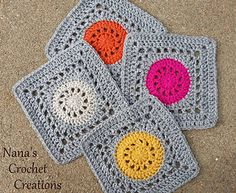 Nana's Granny Wheel Square pattern by Des Maunz