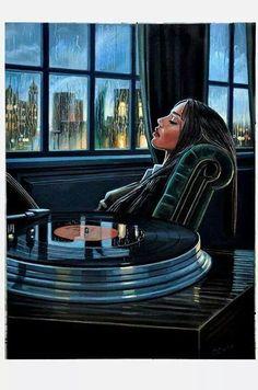 Lost in the music. #vinyl #music #art
